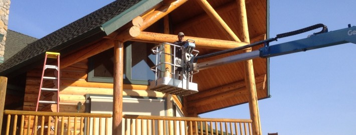 Log Home Staining & Sealing in Spokane