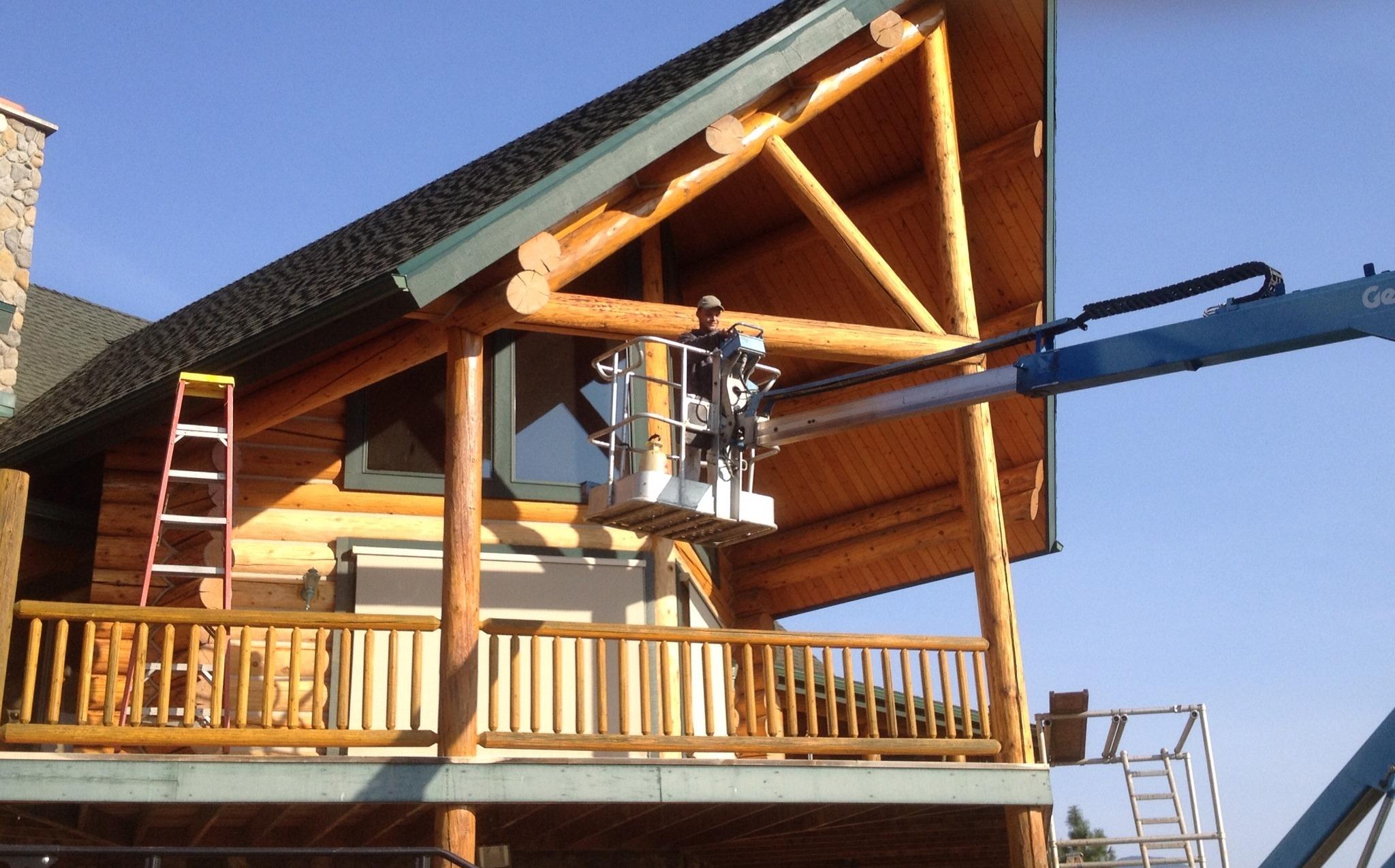 Log Home Restoration Refinishing In Spokane Wa 99212
