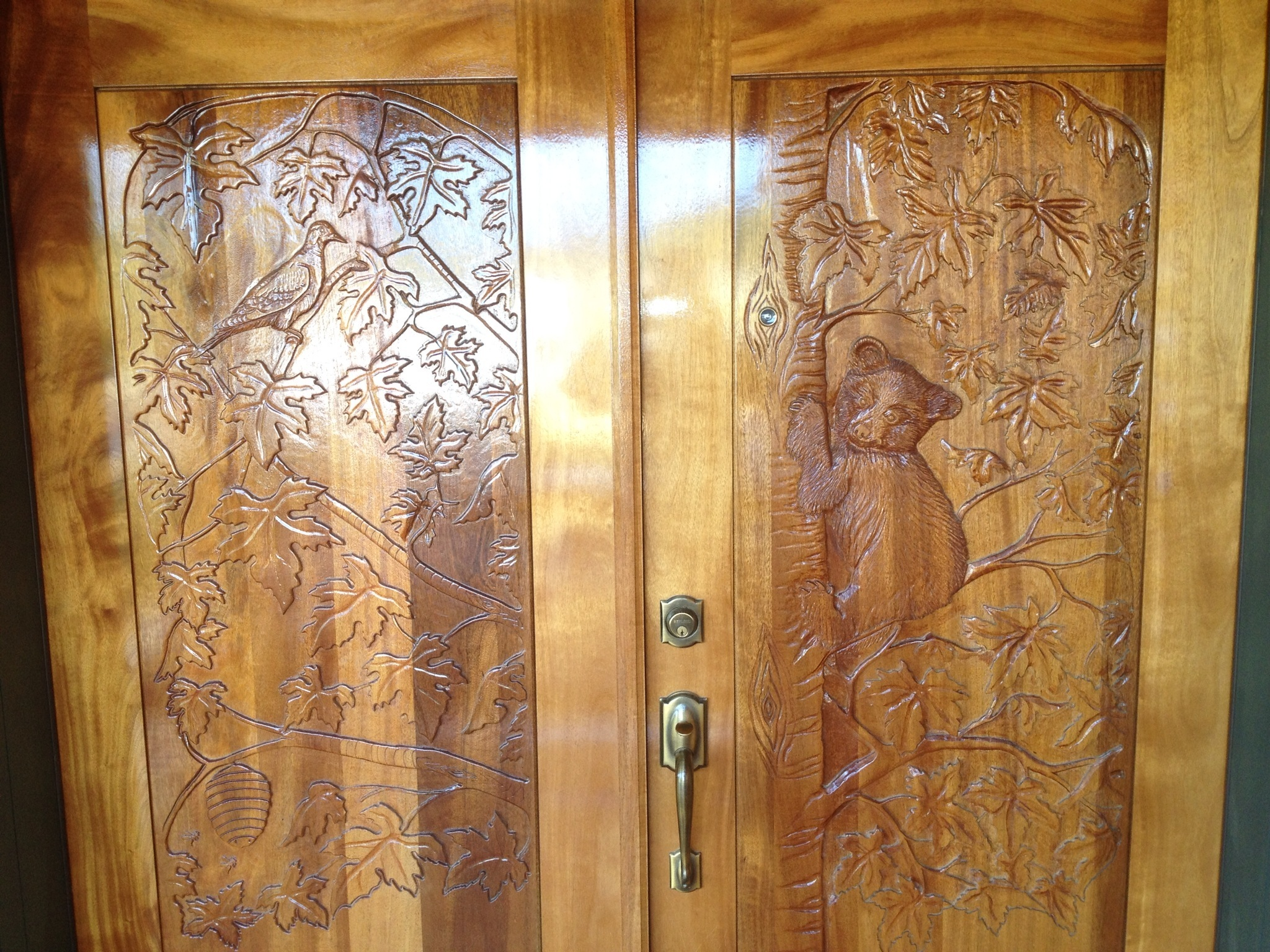 sealing and staining of custom wood doors Spokane