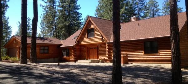 Log Cabin Refinishing Painting Spokane Wa 99203