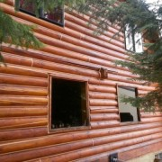 Refinishing log homes in Chewelah and surrounding areas of Washington State