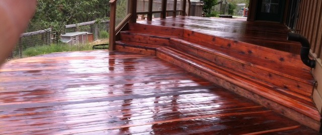 Seven Bays WA wood deck restoration