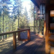 Chewelah Painting for refinish & stain of log home decking